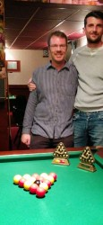 Margate Wednesday Finals Night Oct 2014 - Doubles Champions - Alan Heath & Van King 2