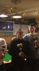 Margate Thursday Pool Singles Runner Up & Doubles Winners - Frank Leppard, Jon Butcher & James Bax