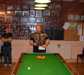 Margate Wednesday Finals Night May 2015 Singles Runners Up Leon Young Mulberry Tree Bandits