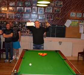 Margate Wednesday Finals Night May 2015 Singles Champion Gary Evans Lord Byron B