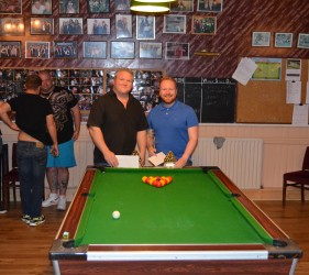 Margate Wednesday Finals Night May 2015 Doubles Champions Adam Tinnion & Grim Mulberry Tree Bandits